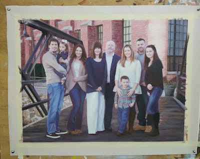 A painting of people, photograph, social group, photography, fun, family, girl, vacation, ceremony, recreation