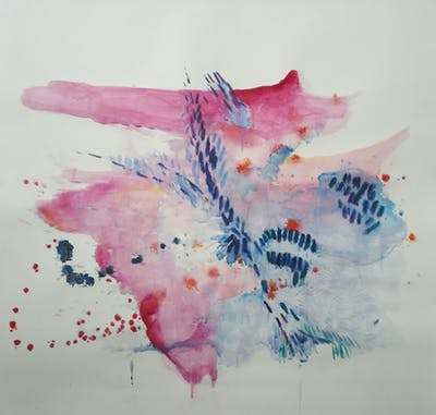 A painting of watercolor paint, art, paint, organism, painting, illustration, marine biology, artwork, fish, acrylic paint