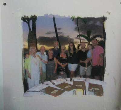 A painting of fun, restaurant, event, recreation
