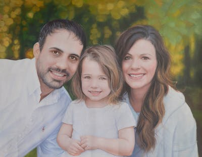 A painting of people, photograph, photography, family, smile, portrait photography, child, fun, sibling, father