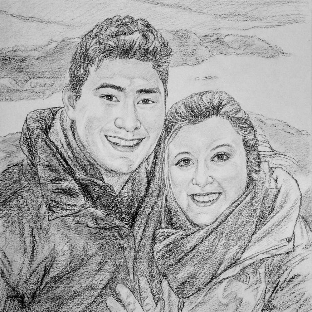 Artist-Rendered Painting