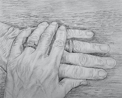 A painting of finger, hand, nail, ring, hand model, manicure, jewellery, nail care, wedding ring, thumb
