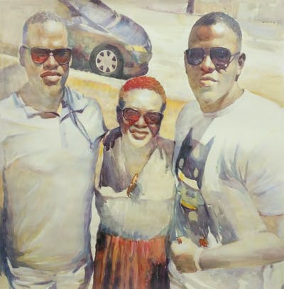 A painting of glasses, sunglasses, youth, fun, eyewear, vision care, cool, product, facial hair, smile
