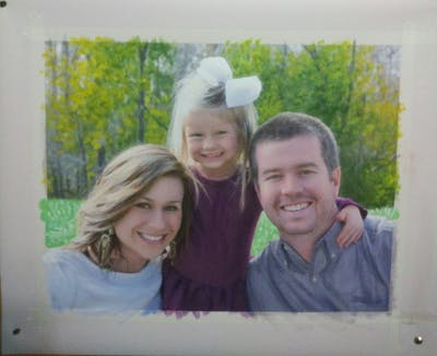 A painting of people, photograph, facial expression, smile, fun, emotion, photography, tree, family, girl