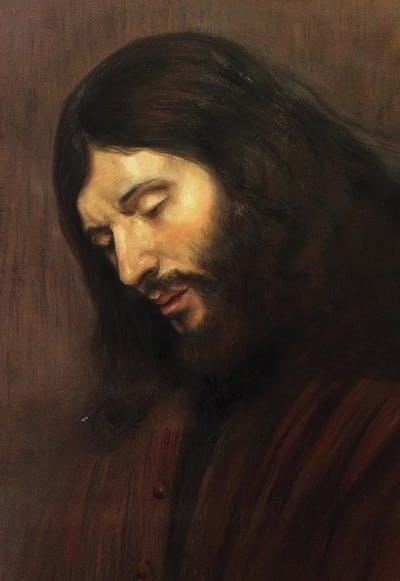 A painting of portrait, painting, facial hair, art, modern art, self portrait, visual arts, artwork