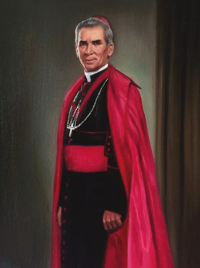 A painting of profession, bishop, outerwear, phenomenon, clergy, cope, academic dress, auxiliary bishop, formal wear