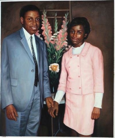A painting of photograph, suit, formal wear, standing, gentleman, fashion, outerwear, socialite, girl, vintage clothing